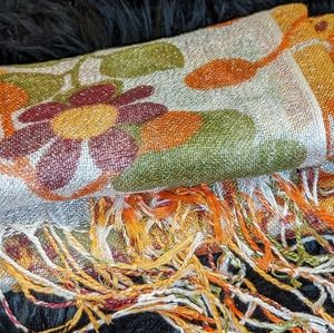 High-end rayon shimmer scarf